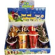 Слайм мороженое с запахом Icy Slime с трубочкой 12 шт/уп