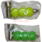 Трубка курительная 3 шара цветных пластик