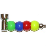 Трубка курительная 4 шара цветных пластик
