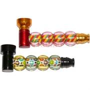 Трубка курительная «4 шарика» металлическая (Индия)