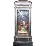 Новогодняя лампа Телефонная будка музыкальная