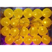 Новогодние гирлянды 5 м желтые LED 20 шт/уп