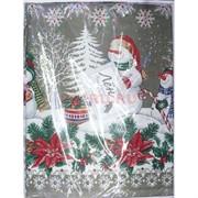 Скатерть из льна 150x220 см новогодняя
