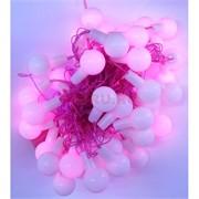 Гирлянда светодиодная розовая 10 м