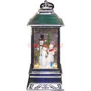 Фонарь-лампа новогодний Снеговики