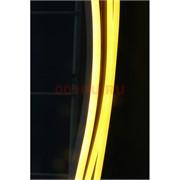 Лента неоновая желтая с блоком (светодиодная двусторонняя) 5 м