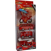 Машинки городская техника Fire Rescue 5 шт