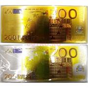 Магнит купюра 200 евро виниловый