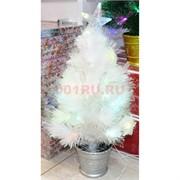 Елка белая со звездой украшенная 60 см