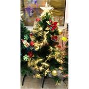 Елка украшенная новогодними шарами со звездой 90 см