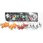 Брелок Быки разноцветные резиновые (3 цвета) Символ 2021 года 12 шт/уп