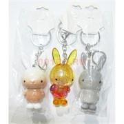 Брелок заяц пластмассовый 12 шт/уп