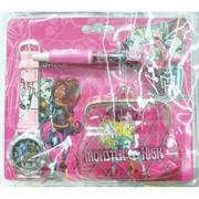Набор для девочек: кошелек, часы, ручка 12 шт/уп