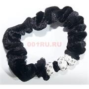 Резинка черная (E-262) со стразами 80 шт/уп