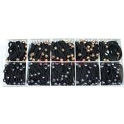 Резинки черные (E-266) с шариками 100 шт/уп