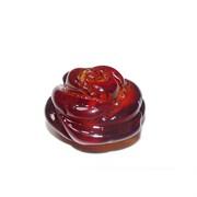 Подвеска кулон из янтаря роза красная 1 см