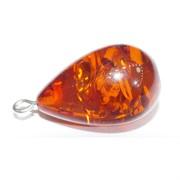 Подвеска кулон из янтаря оранжевая капля 2,8 см