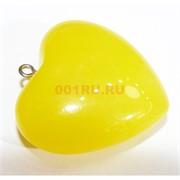 Подвеска кулон из янтаря сердце желтое 3 см
