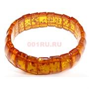 Браслет из янтаря прямоугольный темно-оранжевый
