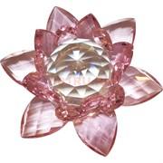 Кристалл Лотос розовый 13 см (XH1-3A)