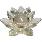 Кристалл Лотос 13 см белый прозрачный (XH3-5)