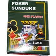 Карты покерные Sunduke Black 100% пластик
