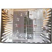 Карты из металлизированного пластика «500 евро» в серебрянном цвете
