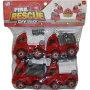 Машинки Пожарные Fire Rescue DIY 4 шт/набор разборные