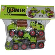 Машинки с\х Farmer Cart DIY 4 шт/набор разборные