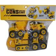 Машинки строительные Construction Cart DIY 4 шт/набор разборные