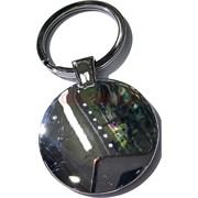 Брелок для гравировки круглый 36 мм без рамки 12 шт/уп