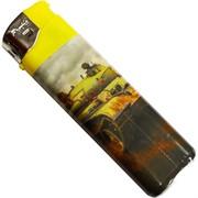 Зажигалка газовая «танки» пьезо нажимная 50 шт/блок