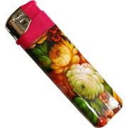Зажигалка газовая «цветы» пьезо нажимная 50 шт/блок