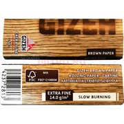 Бумага для самокруток Gizeh Extra Fine 50 шт коричневая