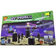 Конструктор My World на 632+ деталей с подсветкой