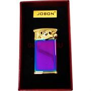 Зажигалка турбо Jobon откидная металлическая цвета микс