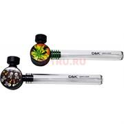Трубка курительная с гриндером D&K glass pipe