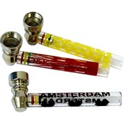 Трубка стеклянная D&K glass pipe 8320 цветная