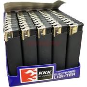Зажигалка черная под резину KKK пьезо нажимная 50 шт/уп