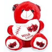 Мягкая игрушка мишка With love с пайетками 25 см