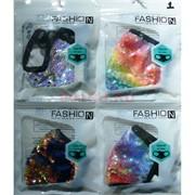 Маска защитная Fashion Mask с пайетками (R-001) расцветки в ассортименте