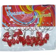 Брелок сердце (HK-8) красное двойное 120 шт/уп