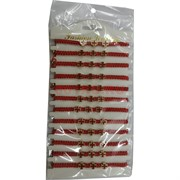 Браслет с красной ниткой (J-149) Три красных креста 12 шт/уп