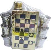 Штоф в виде шахмат и 6 рюмок