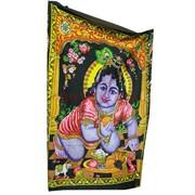 Панно индийское настенное 110x75 см Кришна