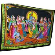 Панно индийское настенное 110x75 см Радха Кришна
