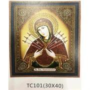Алмазная мозаика (TC101) Икона 30x40