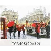 Алмазная мозаика (TC3408) Снегопад в Лондоне 40x50