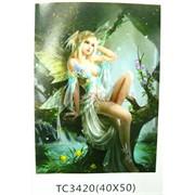 Алмазная мозаика (TC3420) Фея 40x50