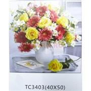 Алмазная мозаика (TC3403) Цветы 40x50